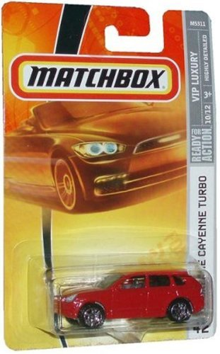 Red Porsche CAYENNE Turbo Matchbox 2007 MBX VIP Luxury 1:64 Scale Die Cast Collectible... by Mattel