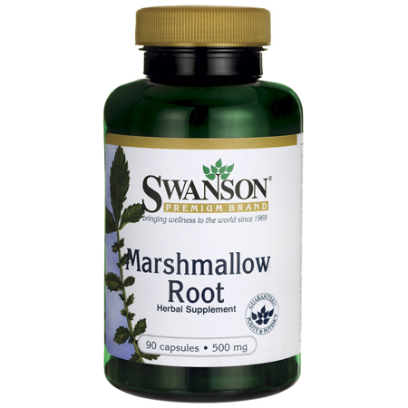Swanson Marshmallow Root 500 mg 90 (Marshmallow Root Cut)