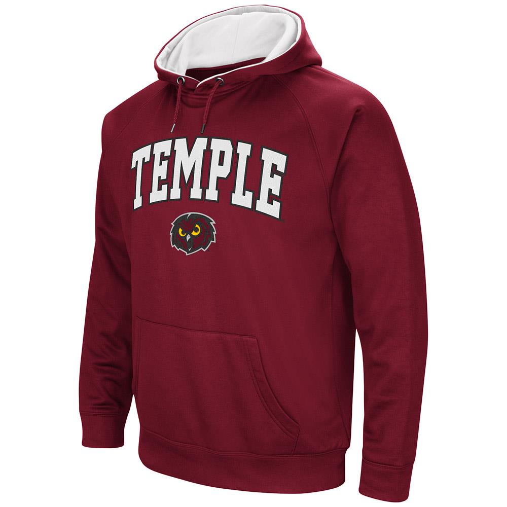 Mens NCAA Temple Owls Fleece Pull-over Hoodie by Colosseum