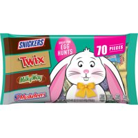 SNICKERS, 3 MUSKETEERS, TWIX & 3 MUSKETEERS Minis & Fun Size Chocolate Easter Candy Variety Bag, 22.69-Ounce 70 Pieces