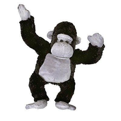 Gorilla Stuffed Animal (cuddly soft 16 inch stuffed black & grey gorilla- we stuff 'em...you love)