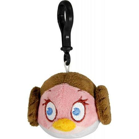 Star Wars Angry Birds Princess Leia Bird Plush Clip On - Angry Birds Halloween 1-4 Three Stars