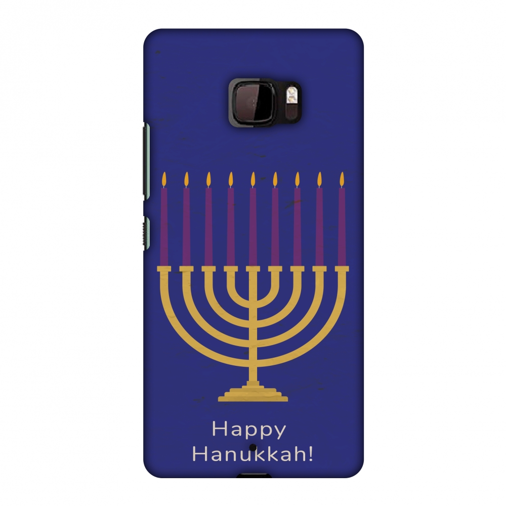 HTC U Ultra Case Premium Handcrafted Designer Hard Shell Snap On Case Shockproof Printed Back Cover with Screen Cleaning Kit for HTC U Ultra , Slim, Protective-Hanukkah 1