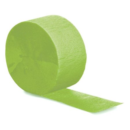 Touch of Color Crepe Streamer, 81 Ft, Fresh Lime, 1 Ct - Colourful Streamers