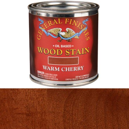 Staining Cherry Wood - Warm Cherry, 1/2 Pint GF Wood Stain