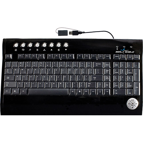 Seal Shield S103 Silver Surf USB Multimedia Keyboard - Black