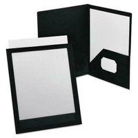 ViewFolio Polypropylene Portfolio, 50-Sheet Capacity, Black/Clear