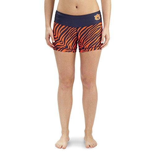 NCAA Women's Auburn Tigers Thematic Print Bootie Shorts, Navy