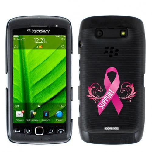 Pink Ribbon Support design on BlackBerry Torch 9850 9860 Hard Case
