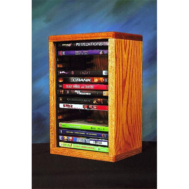 Wood Shed 110-1 DVD Solid Oak desktop or shelf DVD Cabinet - Individual Locking Slots