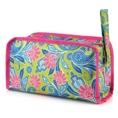 Zodaca Womens Travel Cosmetic Bag Multifunction Toiletry Pouch Makeup Organizer Zip Storage Case