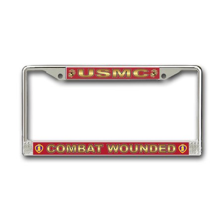 Combat Wounded' U.S. Marine Corps Purple Heart License Plate