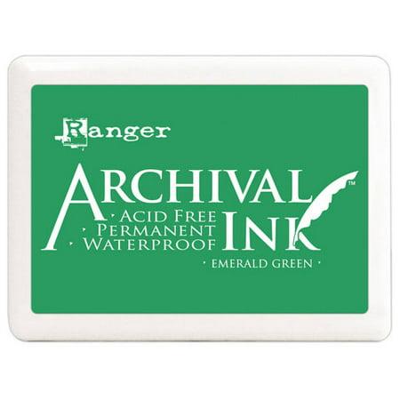 Ink Pad Jumbo Emerald Archival Dye Permanent Waterproof Rang