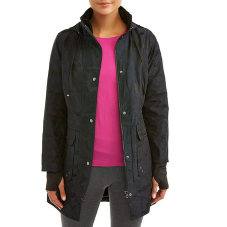 Athletic Works Women's Active Camo Anorak Jacket with Hood Xxl Work Jacket