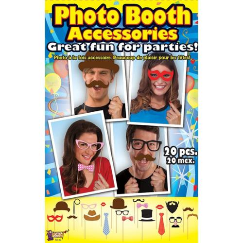 Photo Booth Accessory Kit (20 Pieces) - Party Supplies