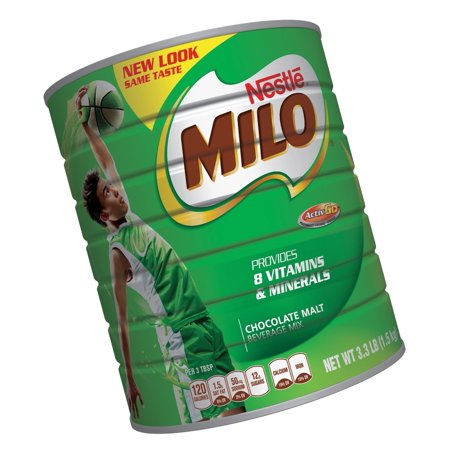 Nestle Milo Chocolate Malt Beverage Mix Jumbo 3.3 Pound Can (1.5kg) 3.3-Pound