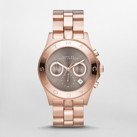MARC Blade Brown Dial Rose Gold Tone Ladies Watch MBM3308