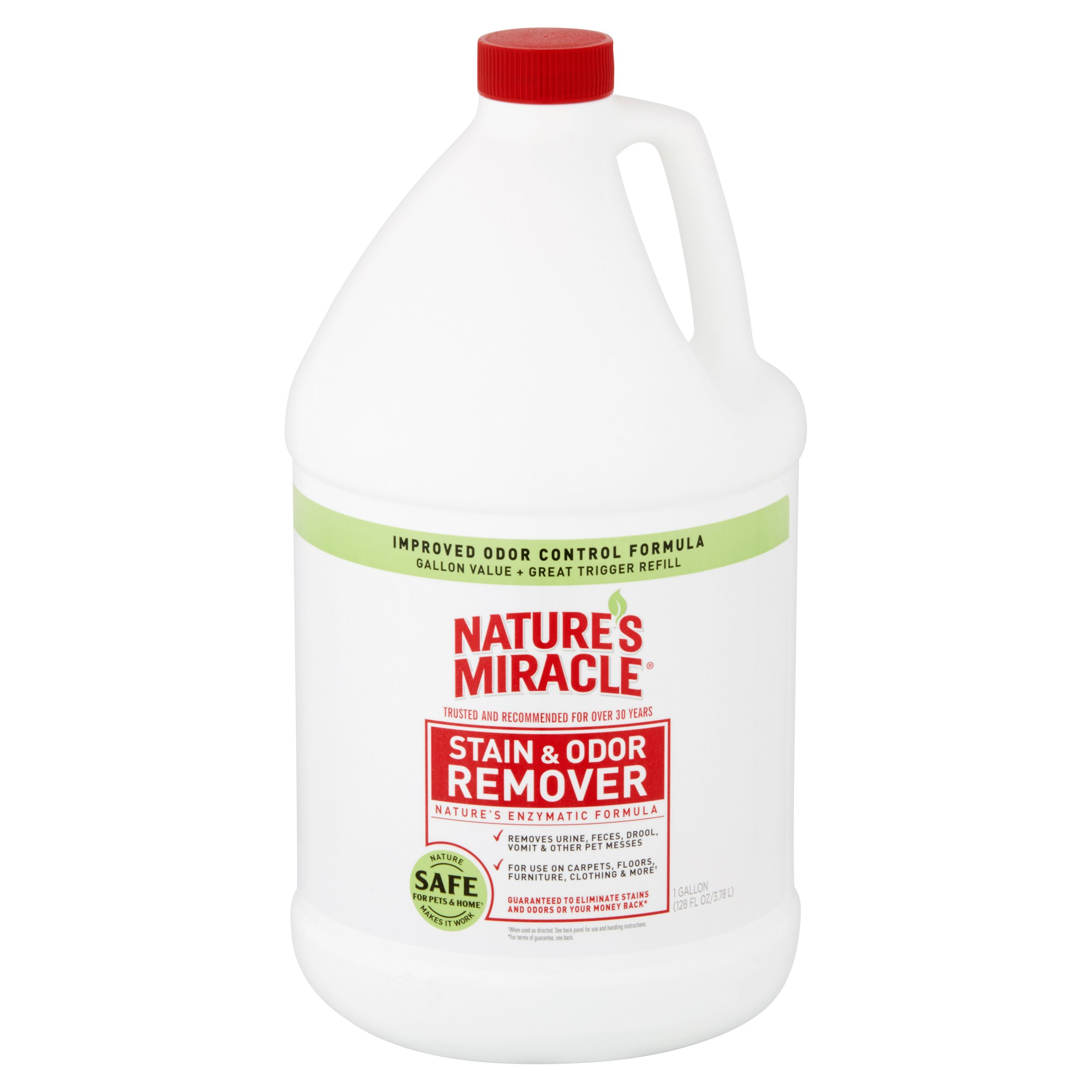 Nature\'s Miracle Stain and Odor Remover w/ Odor Control, 1-Gallon ...