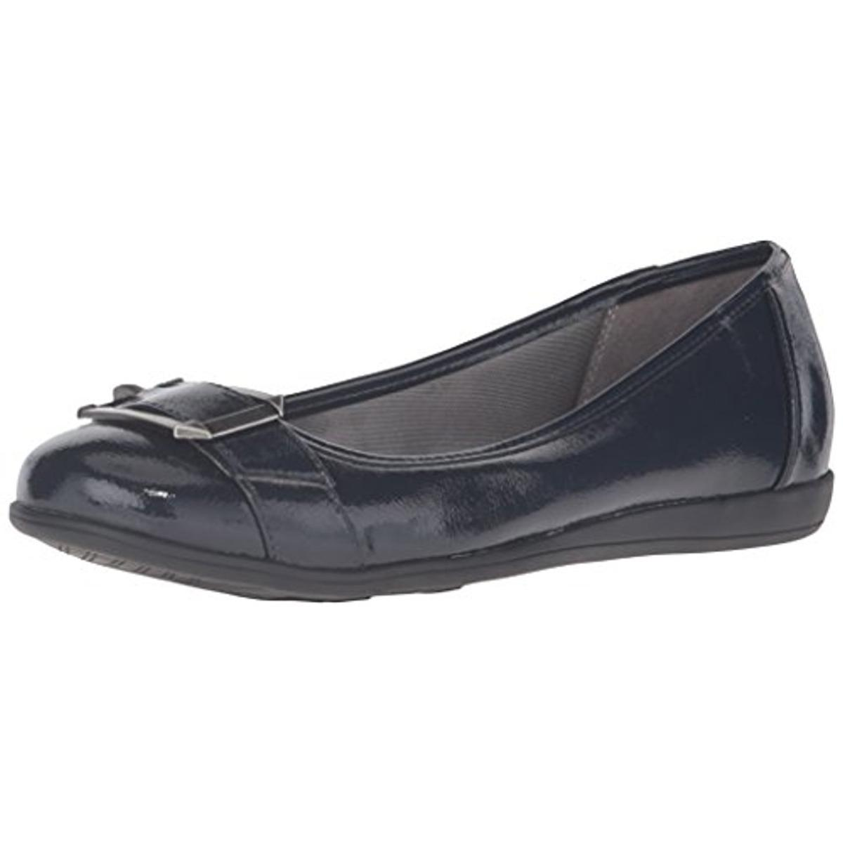 LifeStride Womens Carousel Faux Leather Shimmer Flats