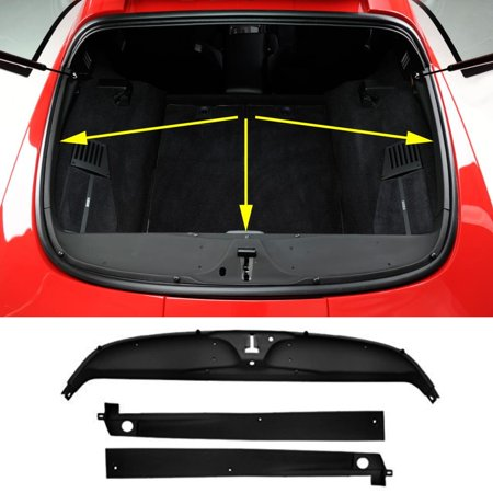 C4 CORVETTE REAR DECK TRIM PANELS 3 PIECE KIT FITS: ALL 84-96 COUPE CORVETTES