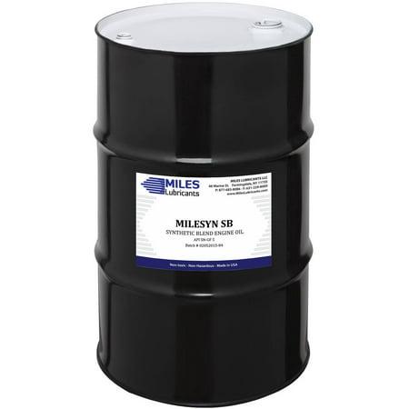 Milesyn sb 5w20 api gf 5 sn synthetic blend motor oil 55 for 55 gallon drum motor oil