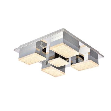 "Elegant Lighting 5100F5 Glasgow 15-11/16"" Wide Integrated LED Flush Mount Ceiling Fixture with Acrylic Shades"