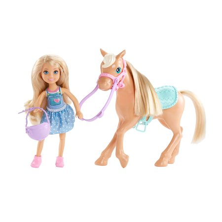 Leop Pony - Barbie Club Chelsea Playset with 6-inch Blonde Doll & Pony
