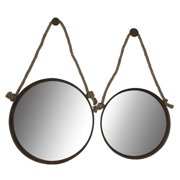 Cheung's FP-3208-2 Round Mirrors with Rope Handle (Set of 2)