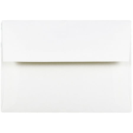 JAM Paper A6 Invitation Envelope, 4 3/4 x 6 1/2, Strathmore Bright White Wove, 25/pack