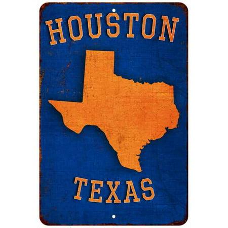 Houston TX Astros Landmarks Baseball Gift 8x12 Metal Sign (Cyclone Anayas Mexican Kitchen Houston Tx 77024)