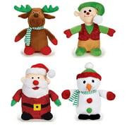 Holiday Musical Plush Dog Toys Plays Seasonal Christmas Song - Choose Character (Full Set of All 4 Toys)