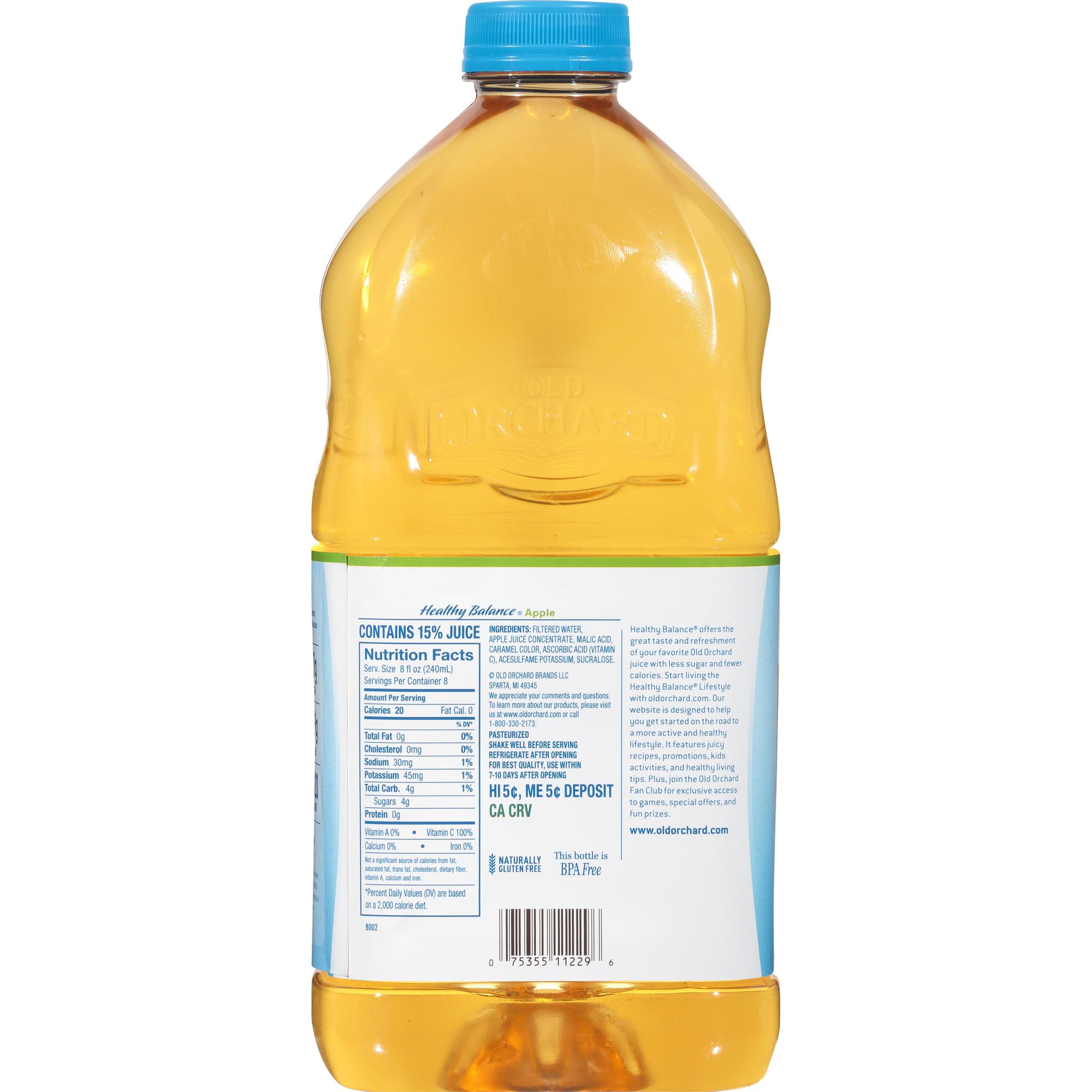 is diet apple juice healthy