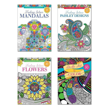B-THERE Adult Coloring Books, Over 125 Different Designs Combined, Mandala  Coloring Books for Adults with Detailed Flower Designs Printed on Heavy ...