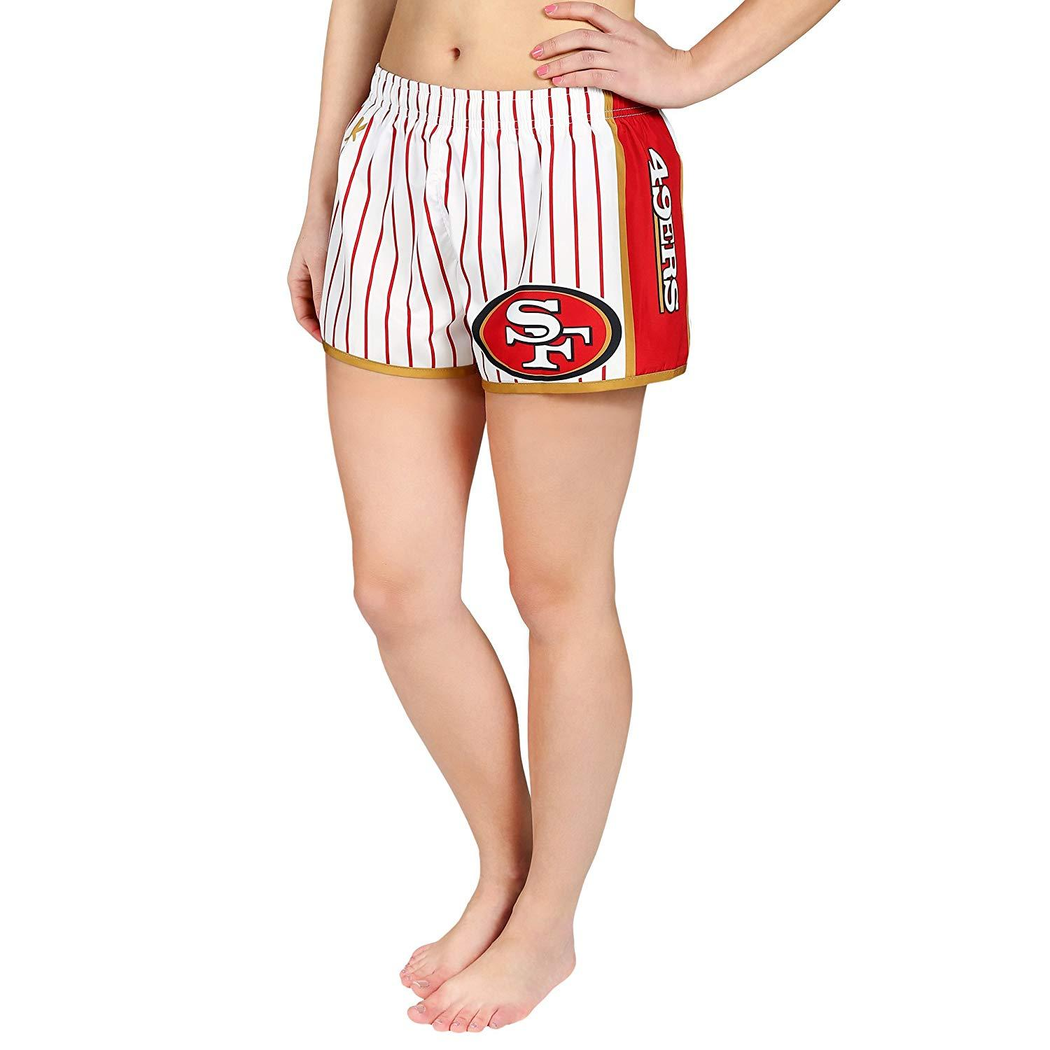 Forever Collectibles NFL Women's San Francisco 49ers Pinstripe Shorts