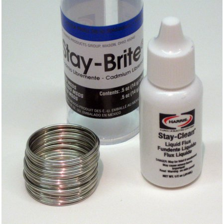 11000 SBSK Harris Stay-Brite Silver Bearing Solder & Stay Clean Liquid Flux (Silver Bearing Solder)