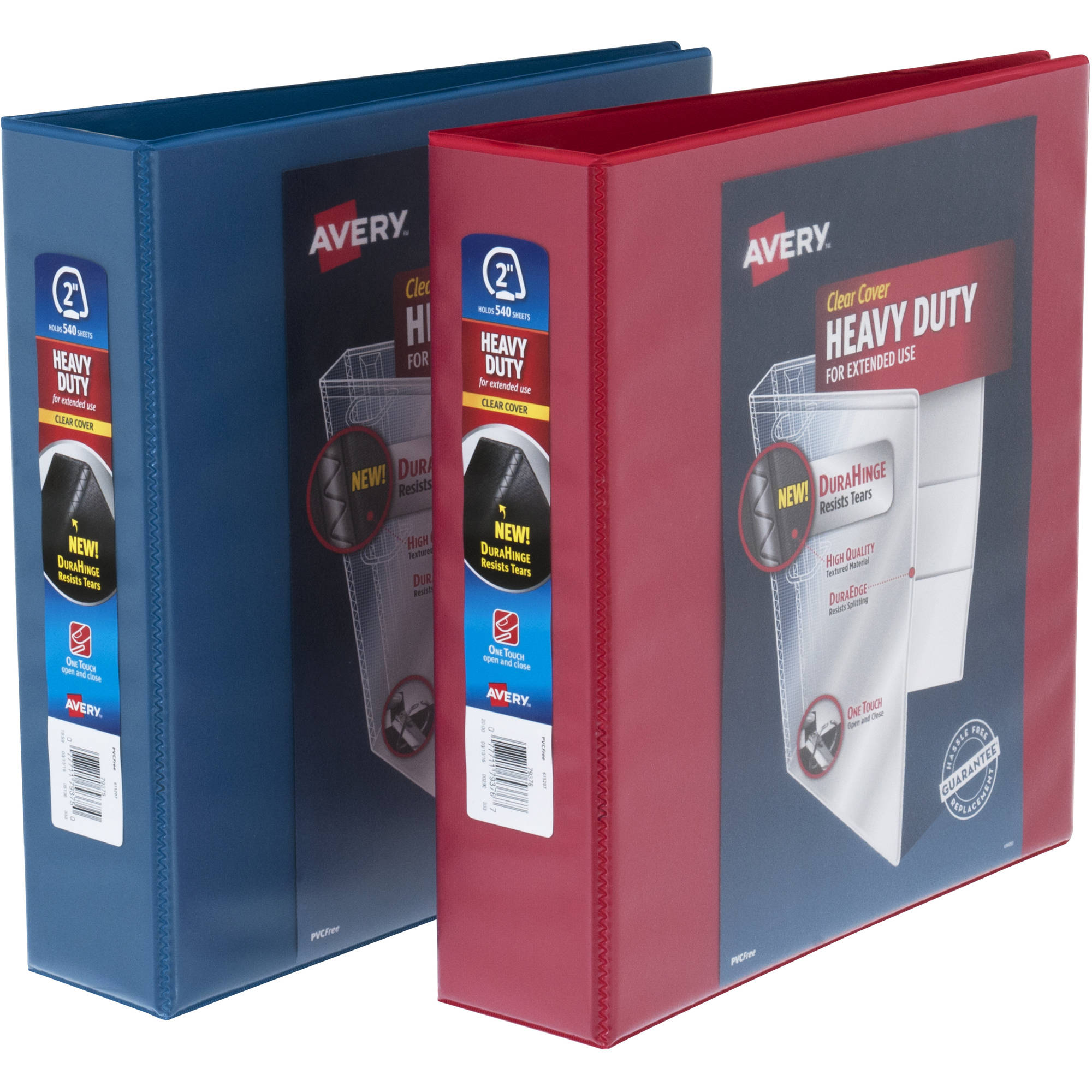 """Avery 2"""" Heavy Duty View Red/Blue Binder, Assorted Master Case"""