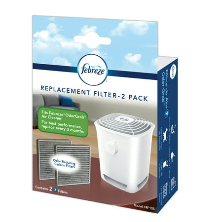 Febreze OdorGrab Replacement Filter, FRF105, 2 Pack 2 Pack Replacement Filter