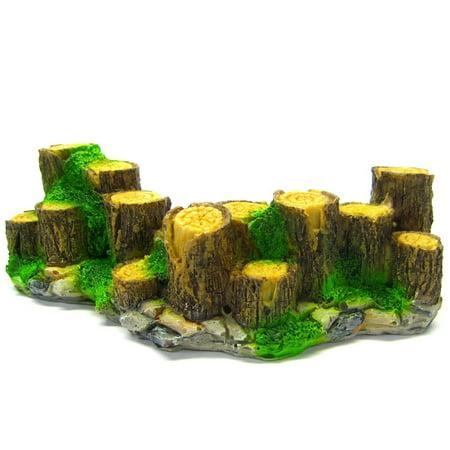 Wood Fence Aquarium Ornament Driftwood 6 Decoration Fish Tank Tree Trunk Rock