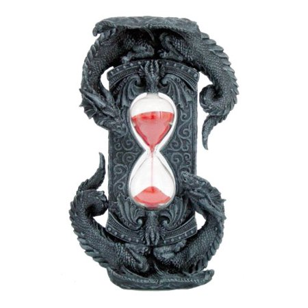 Double Dragon Red Stonelike Sand Sandtimer Hourglass