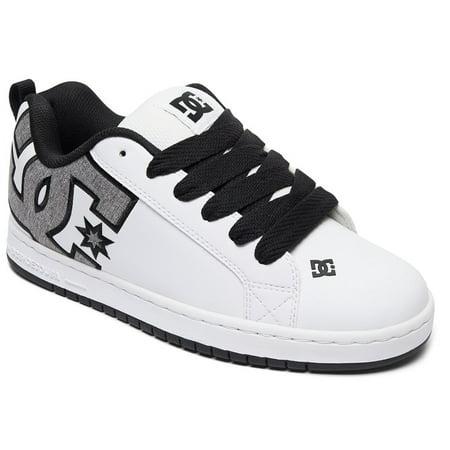 DC Shoes Court Graffik SE Men  Round Toe Leather White Skate Shoe