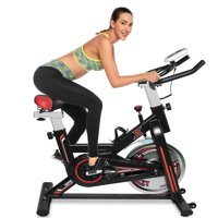 Indoor Exercise Bike, URHOMEPRO Indoor Cycling Bike with CD Monitor & Seat, 330 Lbs Weight Capacity, Adjustable Foot Fitness Equipment, Exercise Equipment for Gym Home Workout, Red, W8525