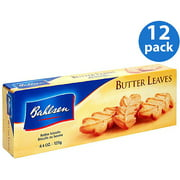 Bahlsen Butter Leaves Cookies, 4.4 oz, (Pack of 12)