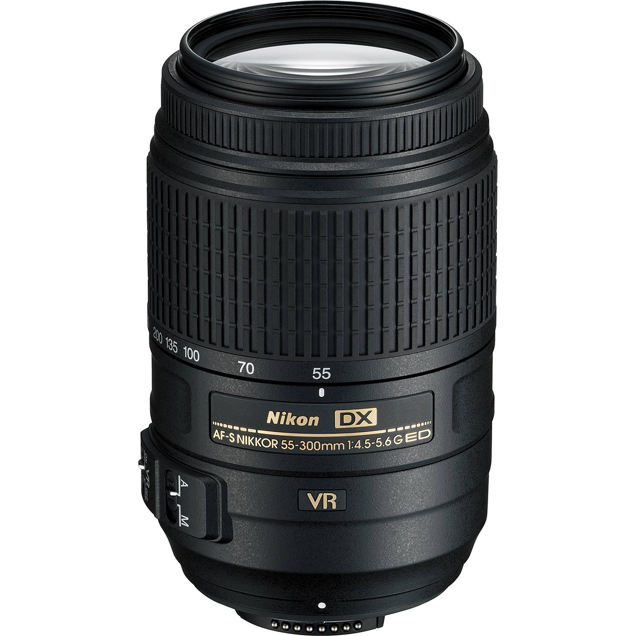 Nikon 55-300mm f/4.5-5.6G VR DX AF-S ED Zoom-Nikkor Lens - Factory Refurbished includes Full 1 Year Warranty