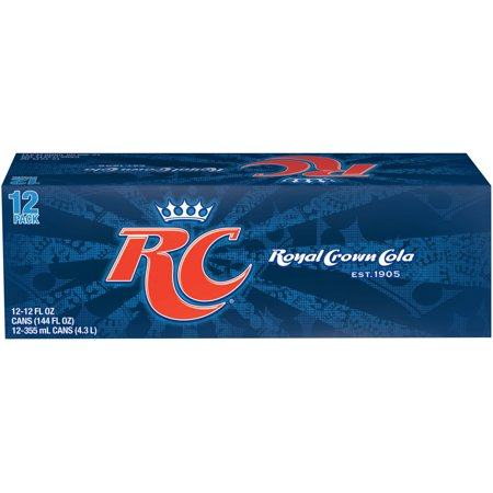 (2 Pack) RC Cola Soda, 12 Fl Oz Cans, 12 Count (Best Substitute For Soda)