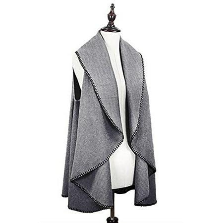 Stitch Sweater Vest (StylesILove Womens Stitch Deco Cardigan Sweater Wooly Vest)