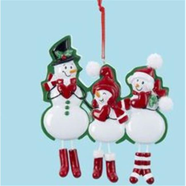Kurtadler 1911919 Snow Family of Three Dangle Ornament - Case of 96
