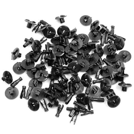 60pcs Black Plastic Push Rivets Car Bumper Trunk Clips Trim (Best Mechanics Tool Brands Uk)
