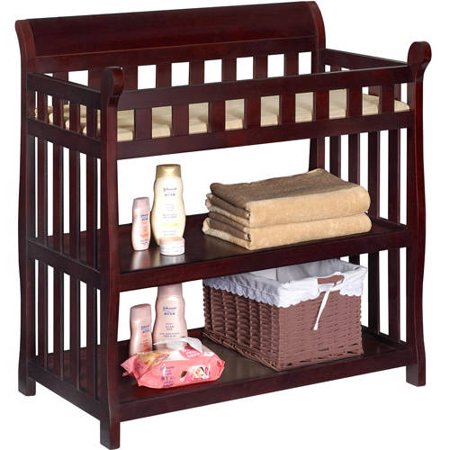 Delta Children Eclipse Changing Table with Pad, Espresso Cherry