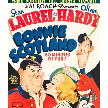 Bonnie Scotland Oliver Hardy June Lang Stan Laurel On Window Card 1935 Movie Poster Masterprint](Laurel Hardy Halloween)