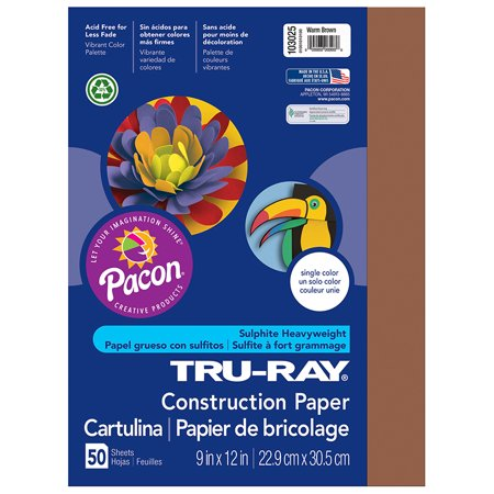 TRU RAY 9 X 12 BROWN 50 SHT CONSTRUCTION PAPER - Construction Paper Halloween Cards